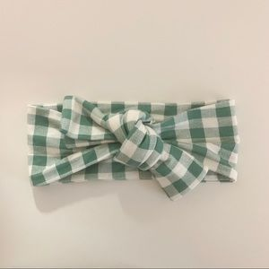 Sea green gingham SpearmintLOVE knot bow